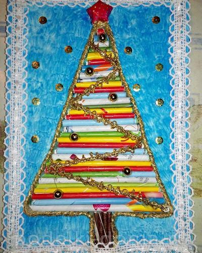 Árvore de Natal feita de tubos2.