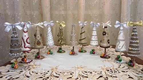Cones da árvore de Natal