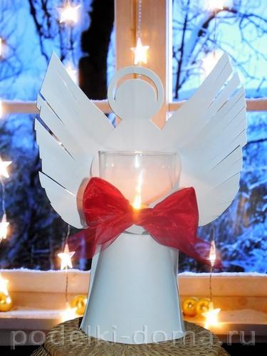 бумажный ангел подсвечник 01