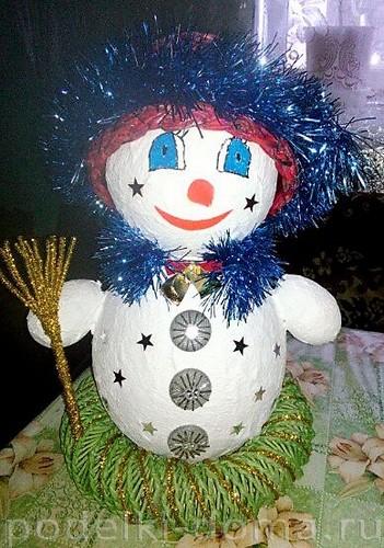 Papier-Masha Snowman 5