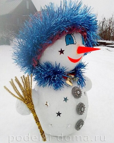 Snowman ระดับปริญญาโทในเทคนิค Cotton Papier-Mâchéภาพถ่าย№ 25
