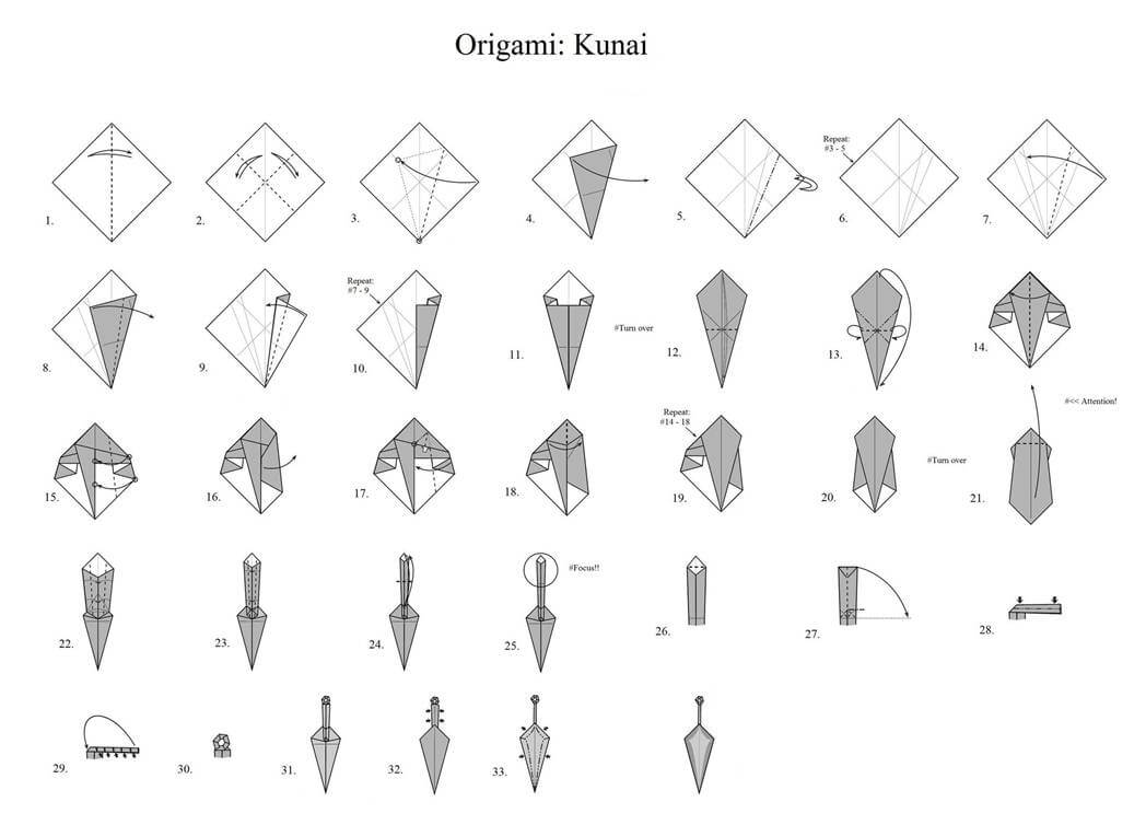 Step By Step Origami Knife Instructions