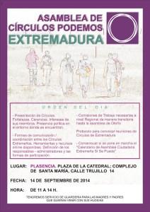 Asamblea de Círculos Podemos Extremadura - 14 de Septiembre 2014