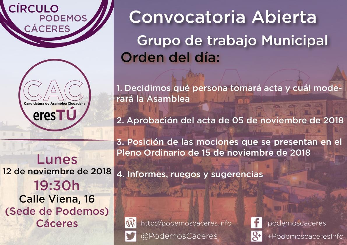 Asamblea 12 de noviembre de 2018