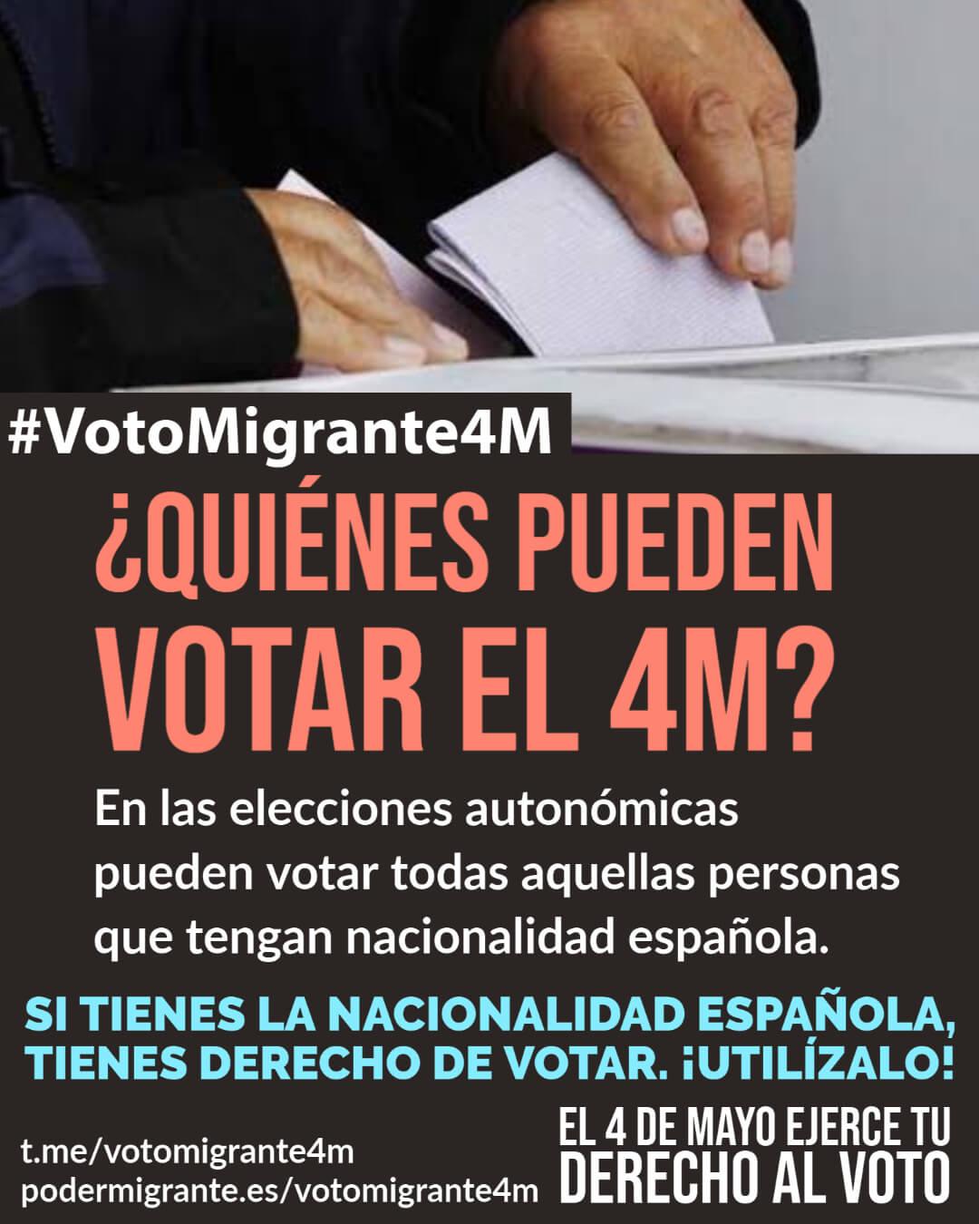#VotoMigrante4M | INFORMACIÓN PRÁCTICA para organizarte el próximo 4M