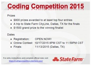 Coding Competition postcard