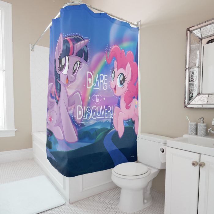 pinkie discover shower curtain
