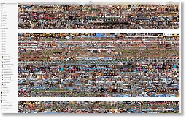 my photo library trying to show how many zillions of photos I have