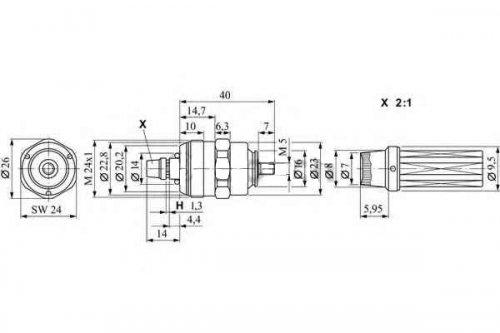 Клапан ТНВД BOSCH Peugeot Boxer (1994-2002) 2.5TDi, 168095