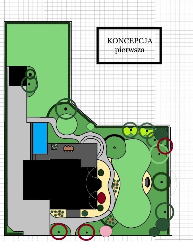 pierwsza koncepcja ogrodu