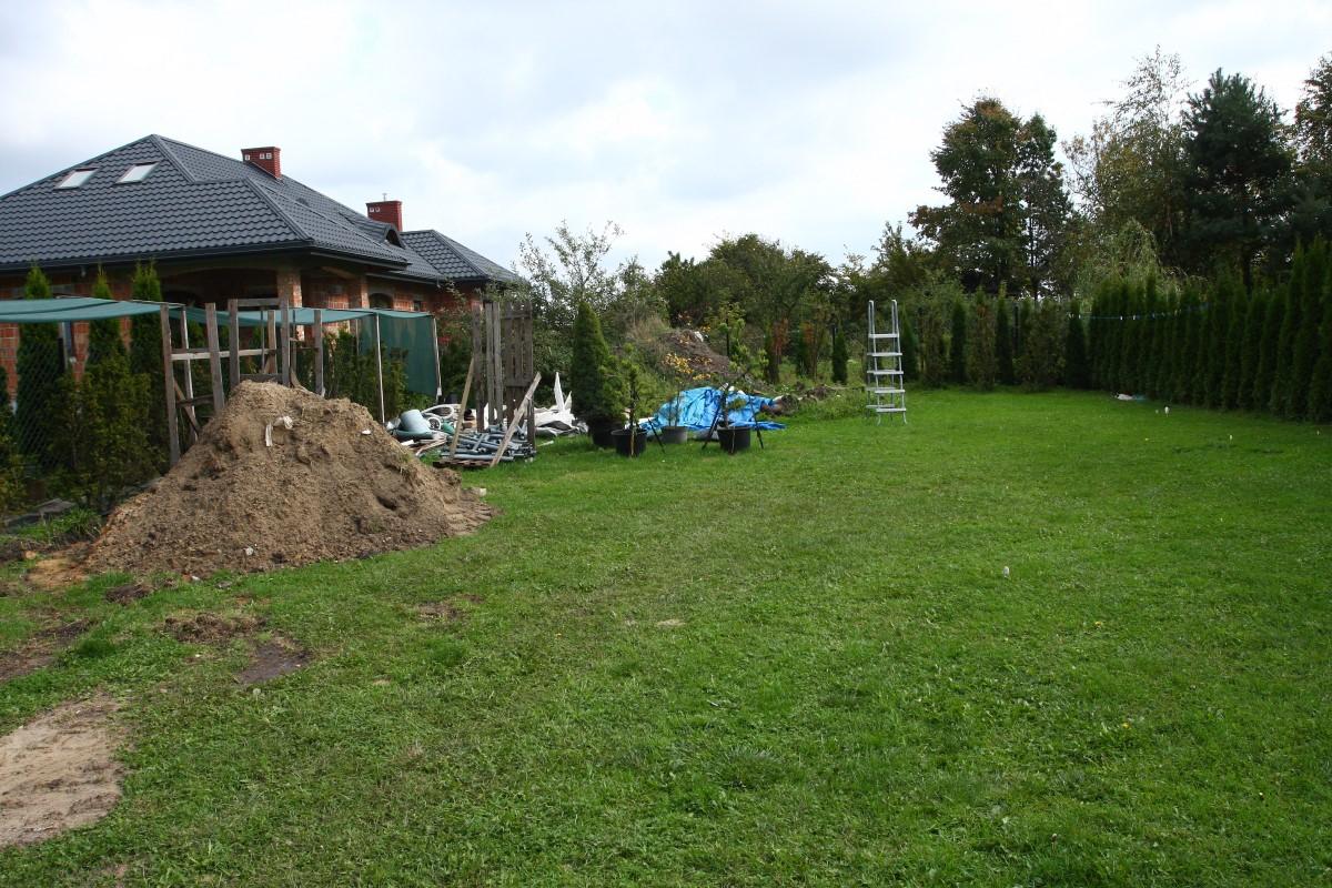tylna część ogrodu