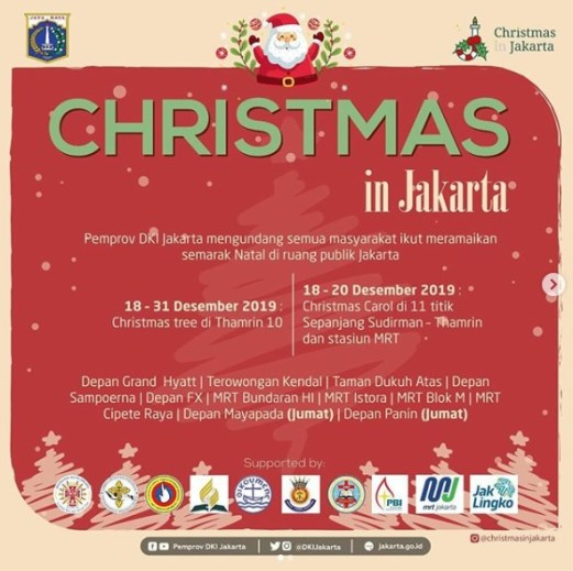Sambut Natal, Pemprov DKI Tampilkan Christmas Carol di Sudirman-Thamrin