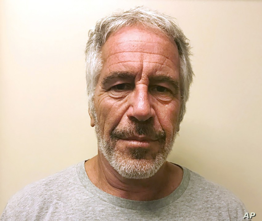 FILE - This March 28, 2017, file photo, provided by the New York State Sex Offender Registry shows Jeffrey Epstein.  Newly released court documents show that Epstein repeatedly declined to answer questions about sex abuse as part of a lawsuit. A…