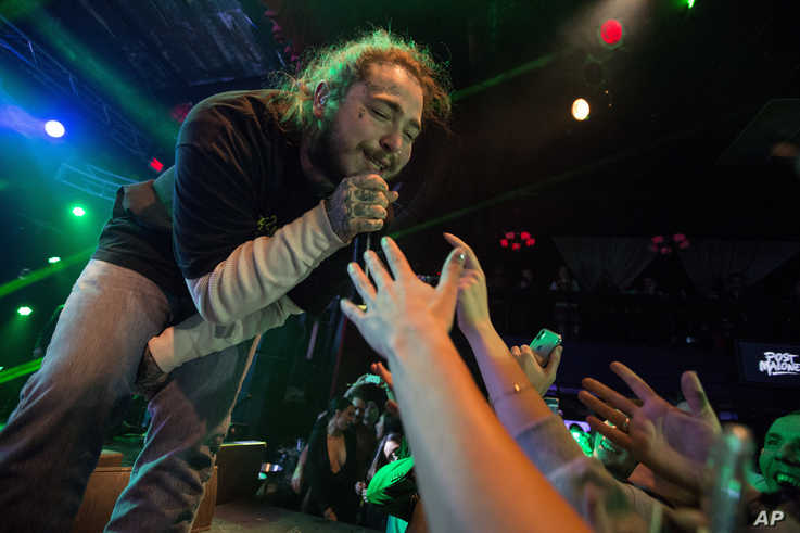 Post Malone performs during Snow Fest at Park City Live on Jan. 20, 2018, in Park City, Utah.
