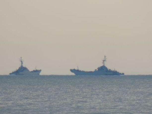 Okręty desantowe koło Wolina