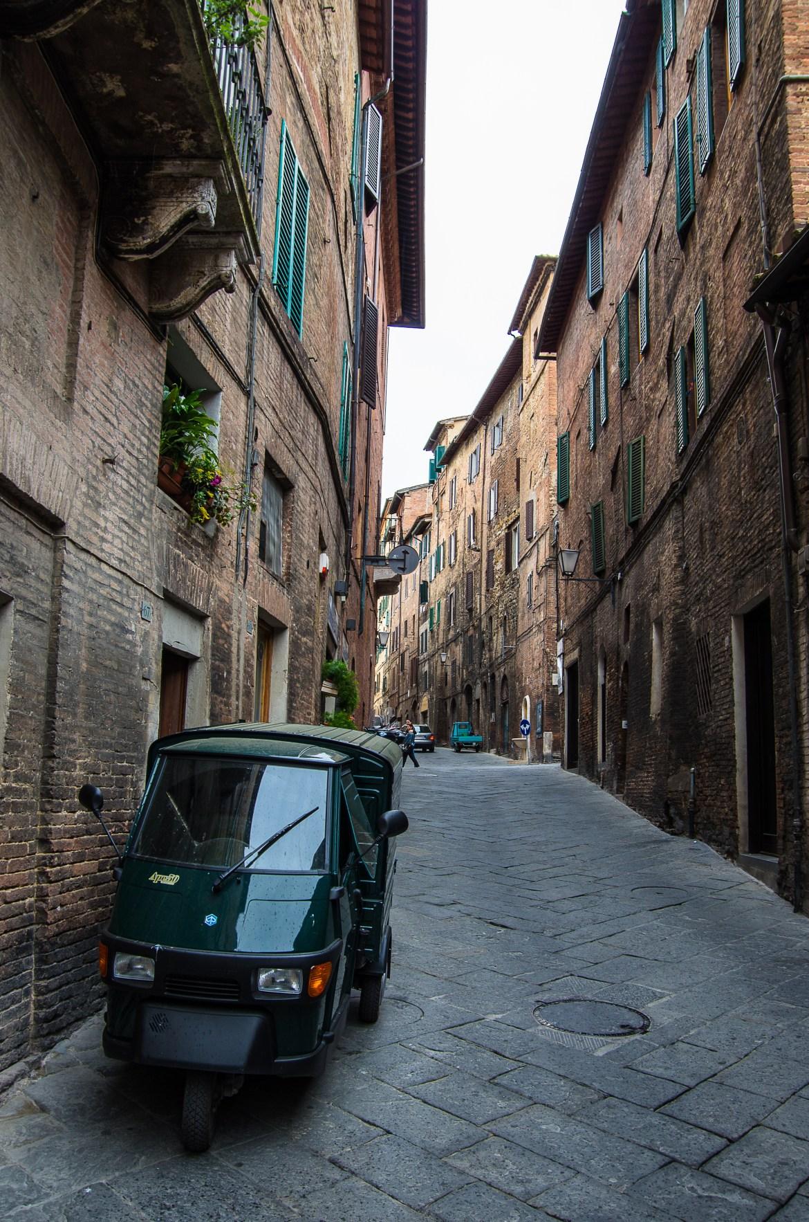 Siena ulice; Toskania