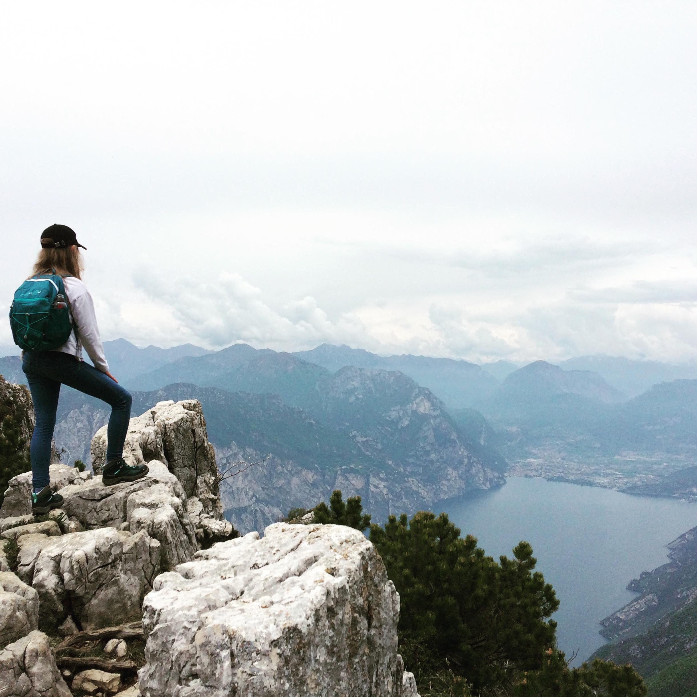 Monte Baldo; widok; Jezioro Garda