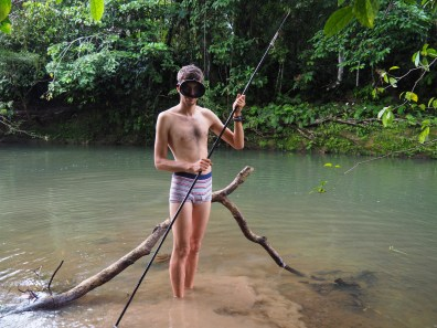 Połów, Fishing, Ecuador, Waorani