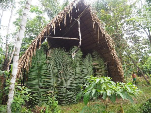 Waorani, dom Huarani, Ecuador