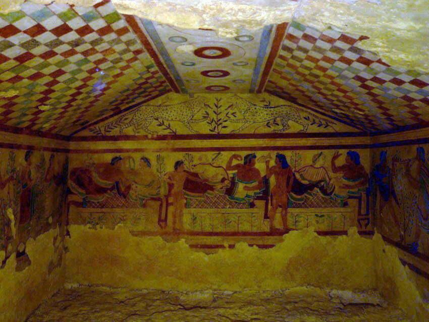 Tarkwinia, V w. p.n.e. - bankiet rytualny