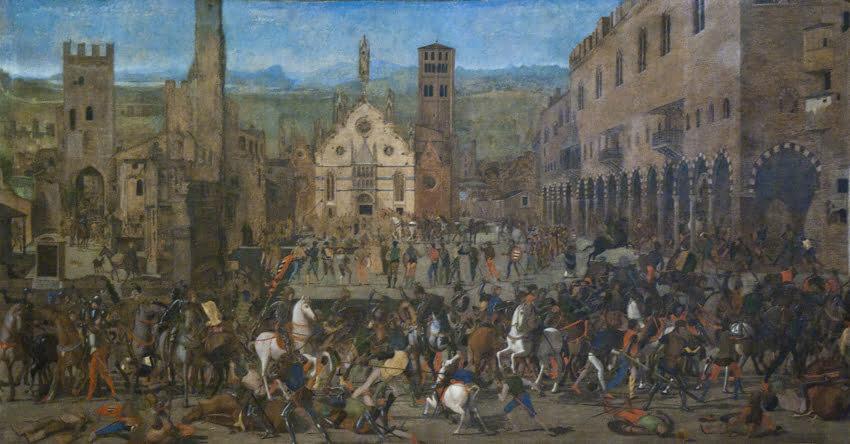 Domenico Morone. Wygnanie rodu Bonaolosich przez Gonzagów