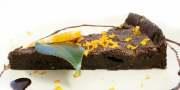 tarta z gorzką czekoladą i z pomarańczą
