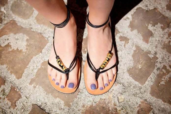 sandały ze szkła z Murano