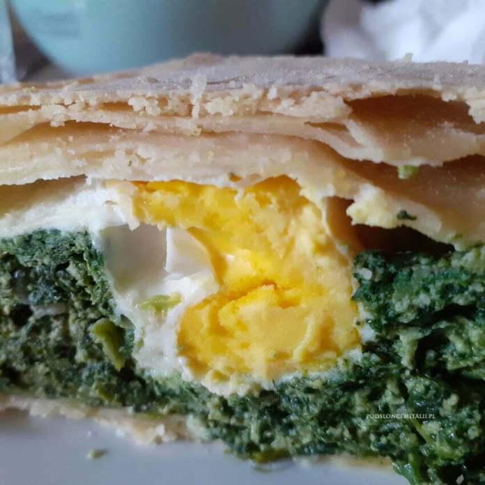 Torta pasqualina - wielkanocny placek wegetariański z Ligurii