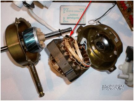 Извлекаем ротор двигателя