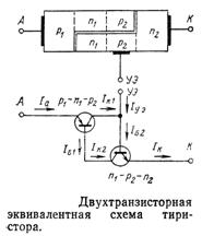 Двухтранзисторная эквивалентная схема