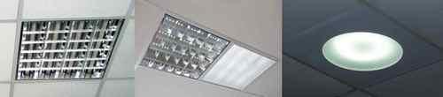 Светильник для потолка типа Армстронг. Врезанные в декоративную плитку осветительные приборы