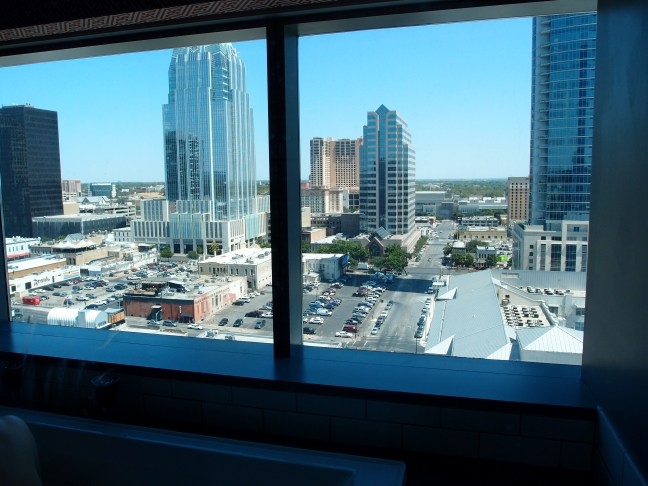 View from the cool corner suite at the W Hotel Austin