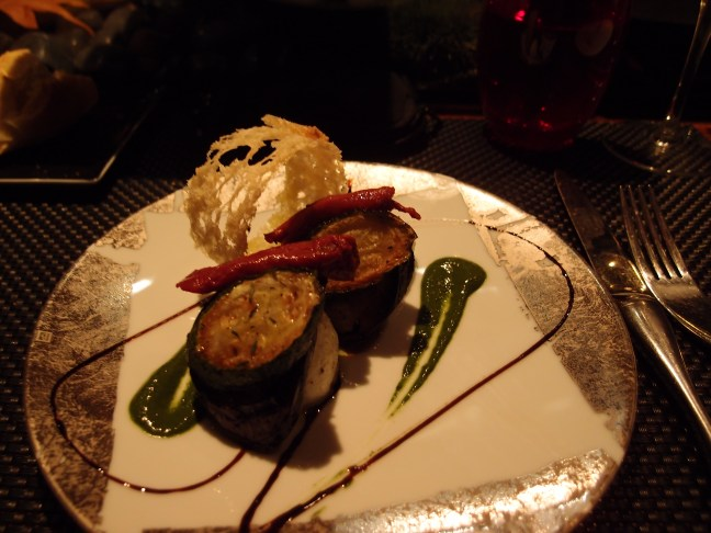 Eggplant at L'Atelier de Joel Robuchon, Paris