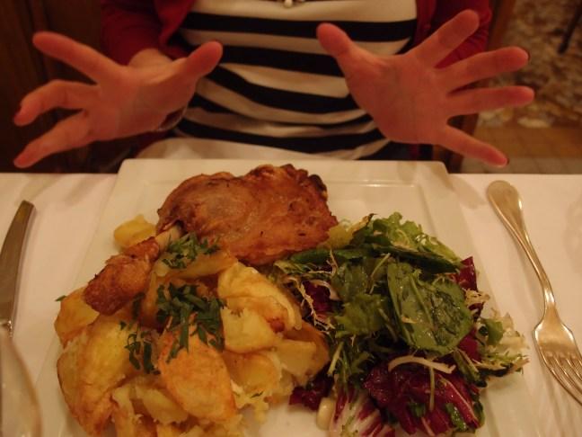 "Duck confit at Josephine ""Chez Dumonet"" Paris"
