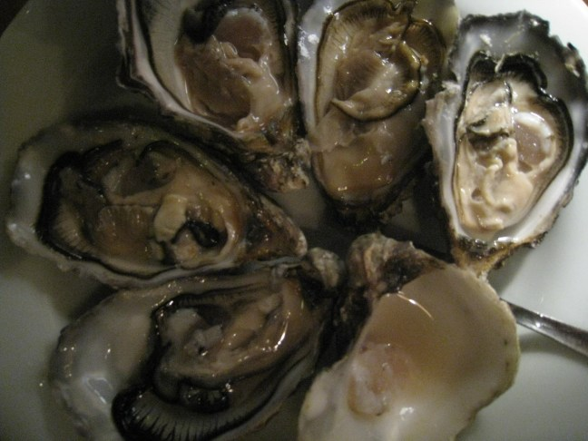 What goes with oysters?