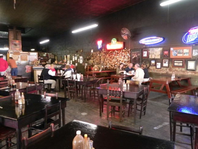 Inside Louie Mueller Barbecue in Taylor