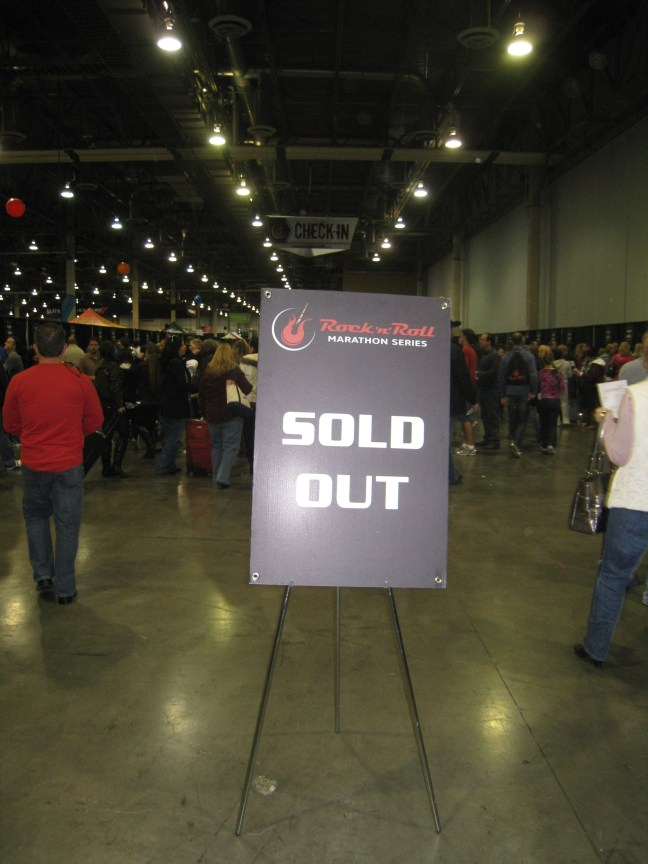 Expo sold out sign