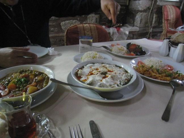 Turkish food including manti