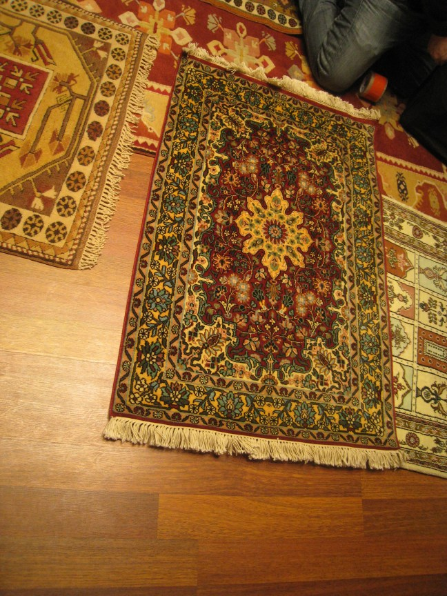 Rug shopping in Istanbul
