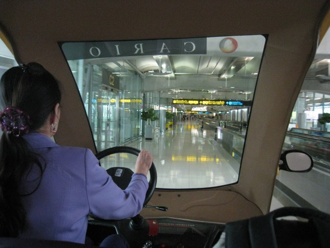 Go-cart to the gate for Thai Airlines First Class passengers