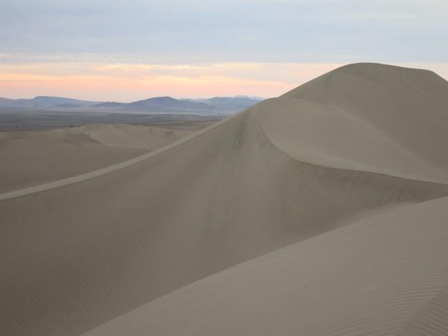 Sand dunes in Paracas Peru