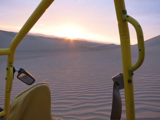 Sand dunes of Paracas desert, Peru