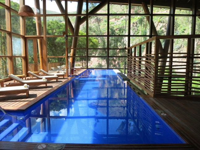 Indoor pool at Tambo del Inka Sacred Valley Peru