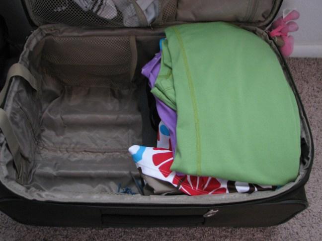 Half suitcase