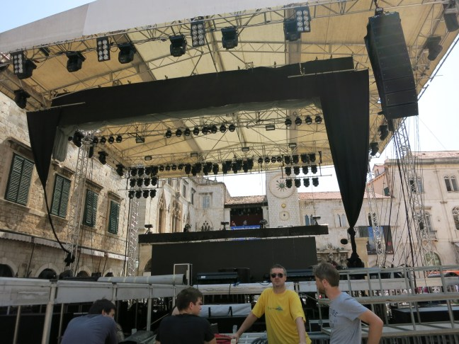 Severina's stage the day of the show in Croatia