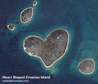 heart shaped Croatian island