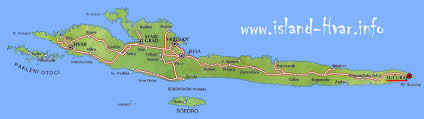 Hvar map