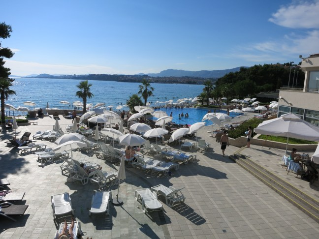 Pool and beach at Le Meridien Lav Split.