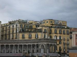 Typical building at the Piazza del Plebiscito