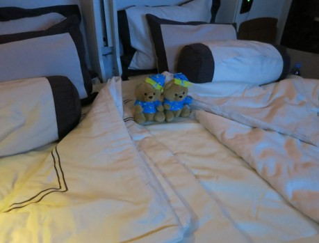 Double bed on Singapore Airlines